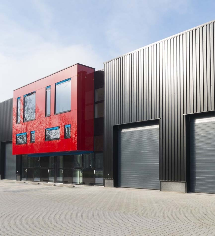 commercial roller shutters spraying