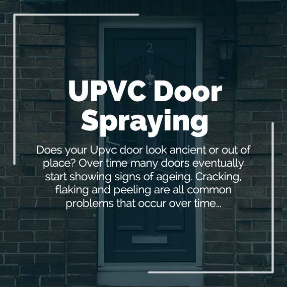 upvc door spraying colour change West Midlands