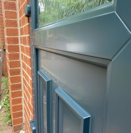 Check out the finish on this Upvc door...