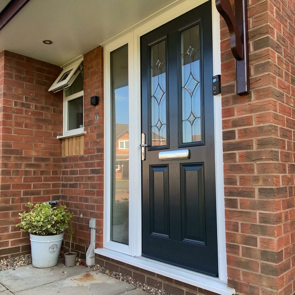 This run down door was totally transformed by the Sprayworks UK team....